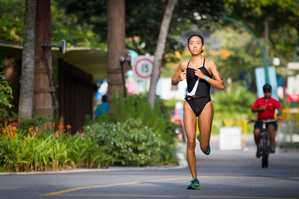 Suriadi on the run course