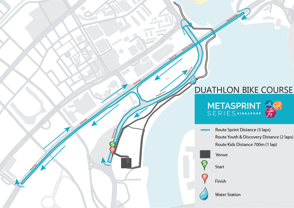 2020 MetaSprint Series Duathlon bike course map