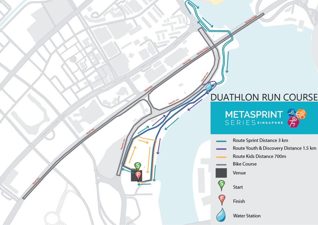 2020 MetaSprint Series Duathlon run course map