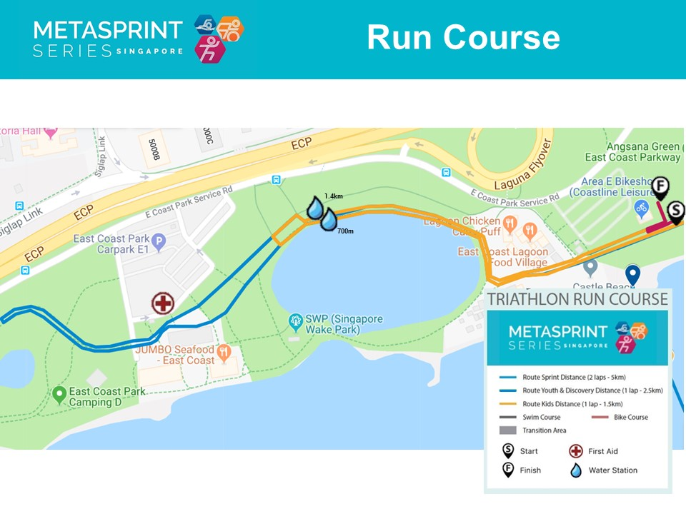 Triathlon run course map