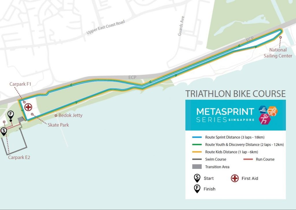 Triathlon bike course map